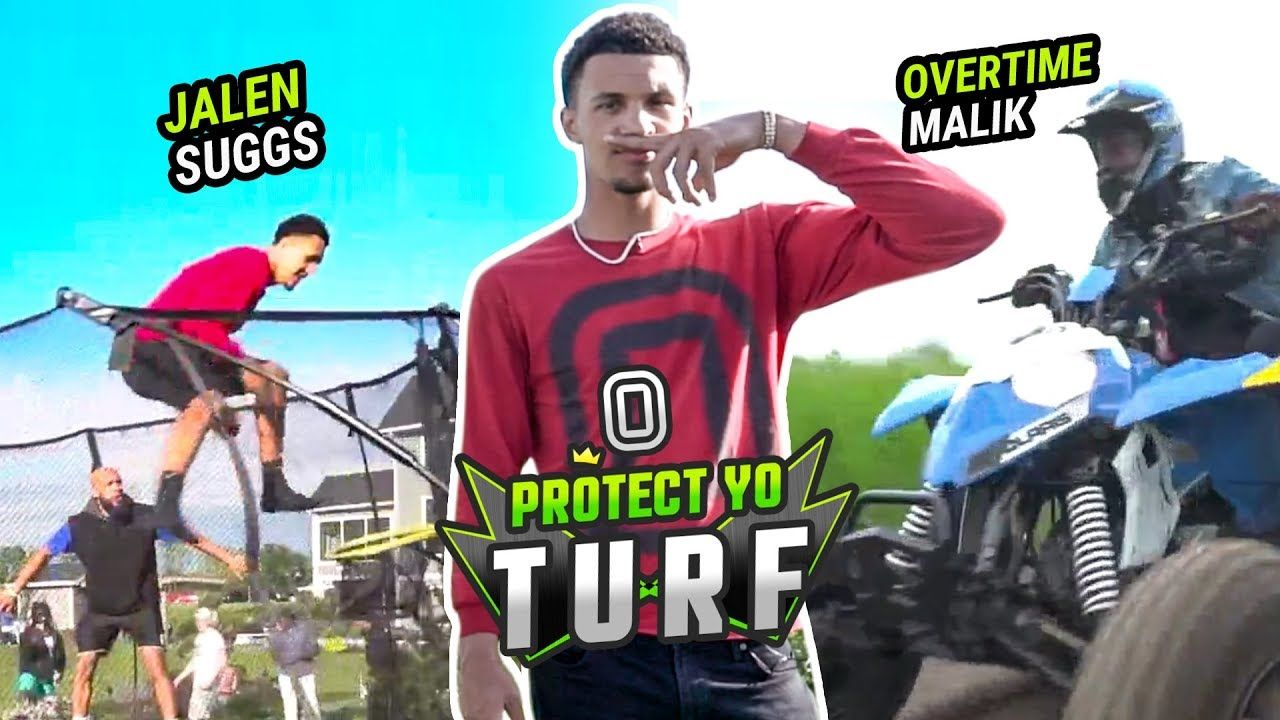 """How're You CHEATING And STILL LOST!?"" Jalen Suggs RACES ATVs & Dunks On A TRAMPOLINE 😱"