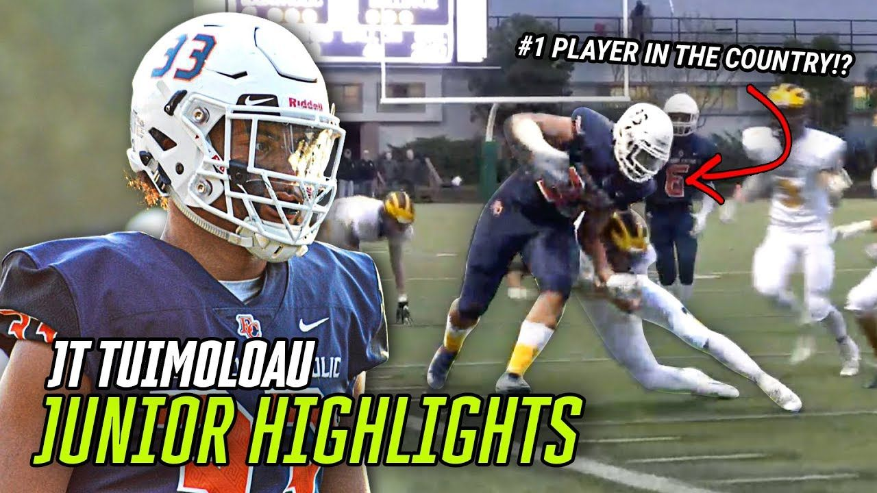 #1 Player JT Tuimoloau Is The NEW Best Athlete In The COUNTRY! Full Junior Year HIGHLIGHTS 🔥
