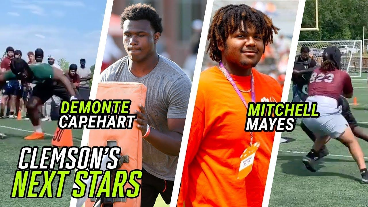 Clemson Commits Demonte Capehart & Mitchell Mayes EAT Against Top Linemen! Big Guys DANCE & FLEX 🔥