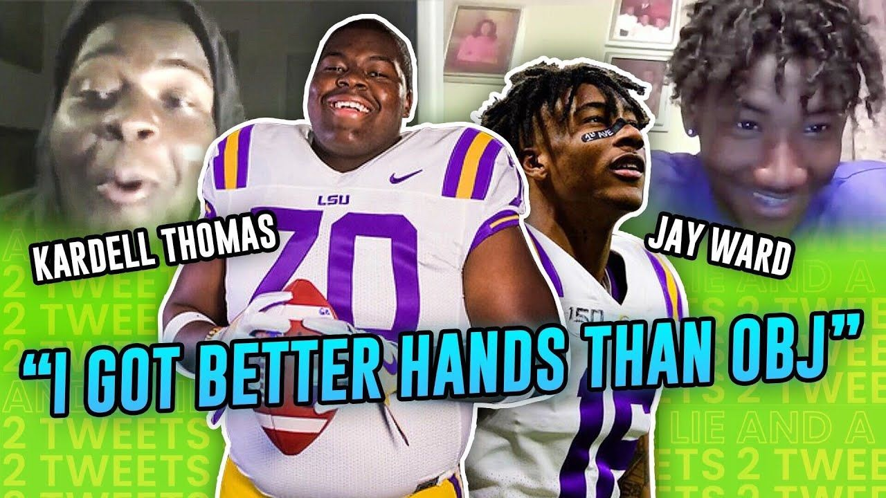 """That's a WHOLE LIE!"" LSU's Kardell Thomas & Jay Ward Go Through Each Other's OLD TWEETS 😳"