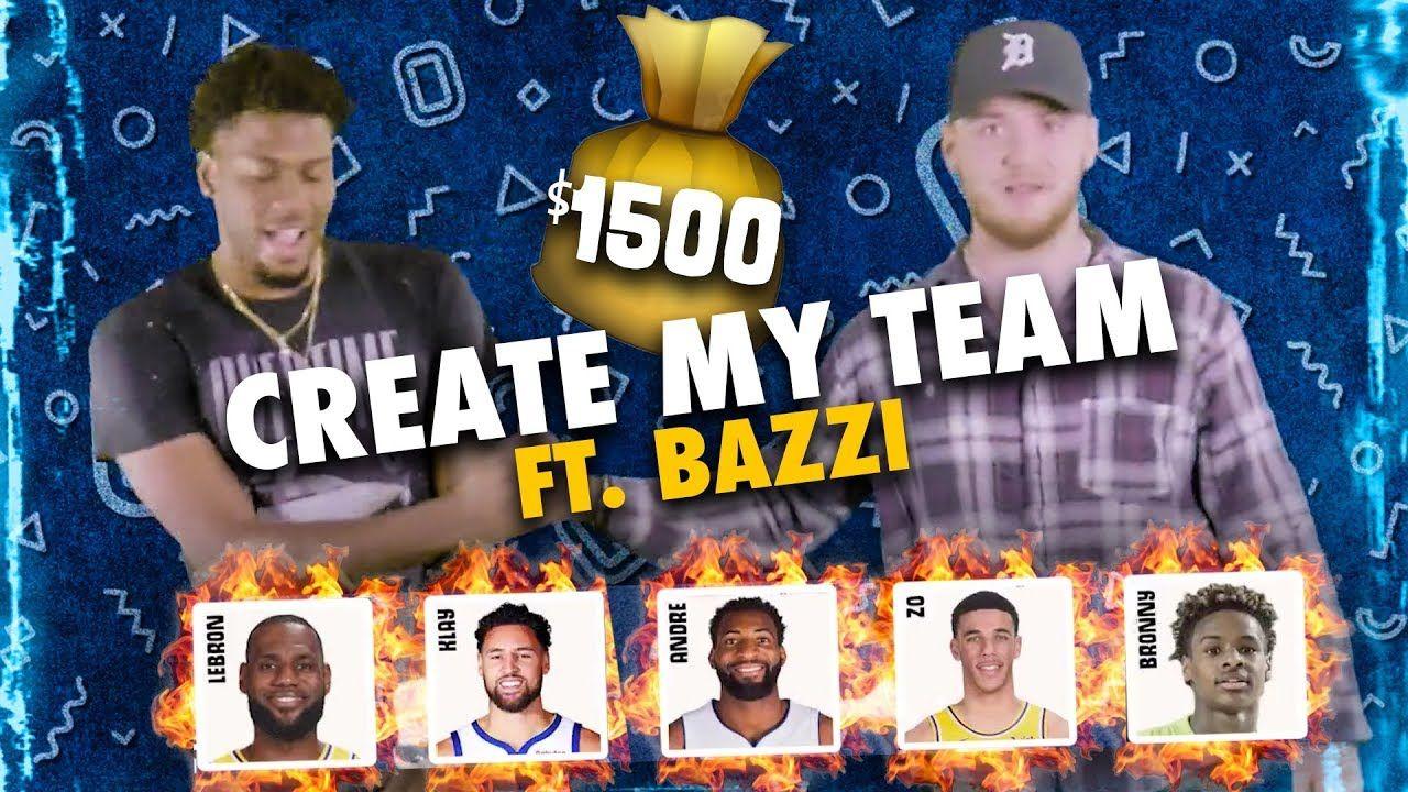 Bronny James & LeBron On The SAME TEAM!? Singer Bazzi Drafts LEGENDARY Team With $1,500 💰